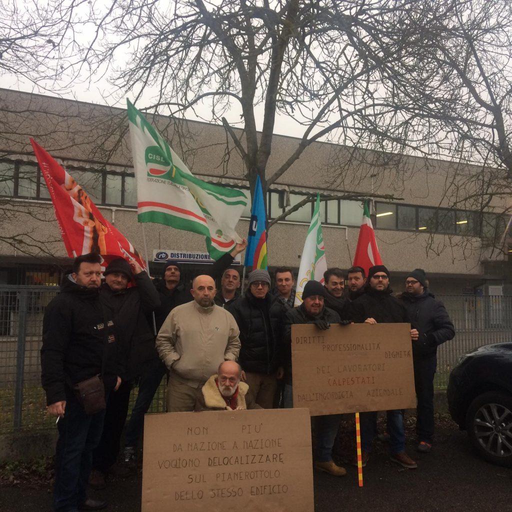 Lavoratori di Errebi in sciopero e presidio a Ravenna