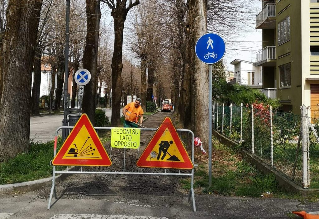 Castel Bolognese, si rifanno le piste ciclabili del viale della stazione