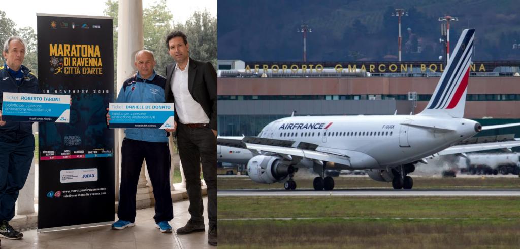 Air France, ancora al fianco della Maratona di Ravenna, premia la fedeltà di due runner
