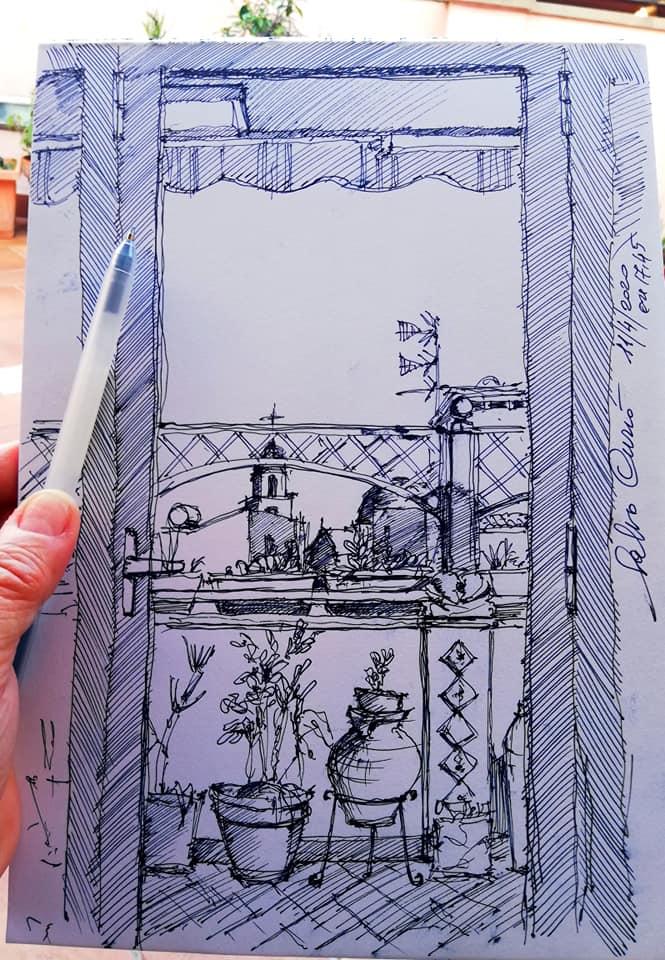 Sketchmob, oltre 500 disegni col panorama visto dalla finestra