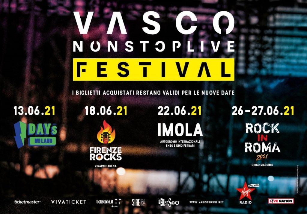 Vasco Rossi, ufficiale la nuova data del concerto a Imola