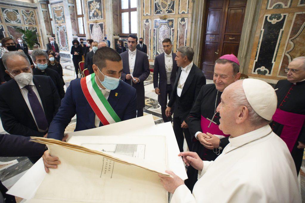 Delegazione ravennate ricevuta da Papa Francesco