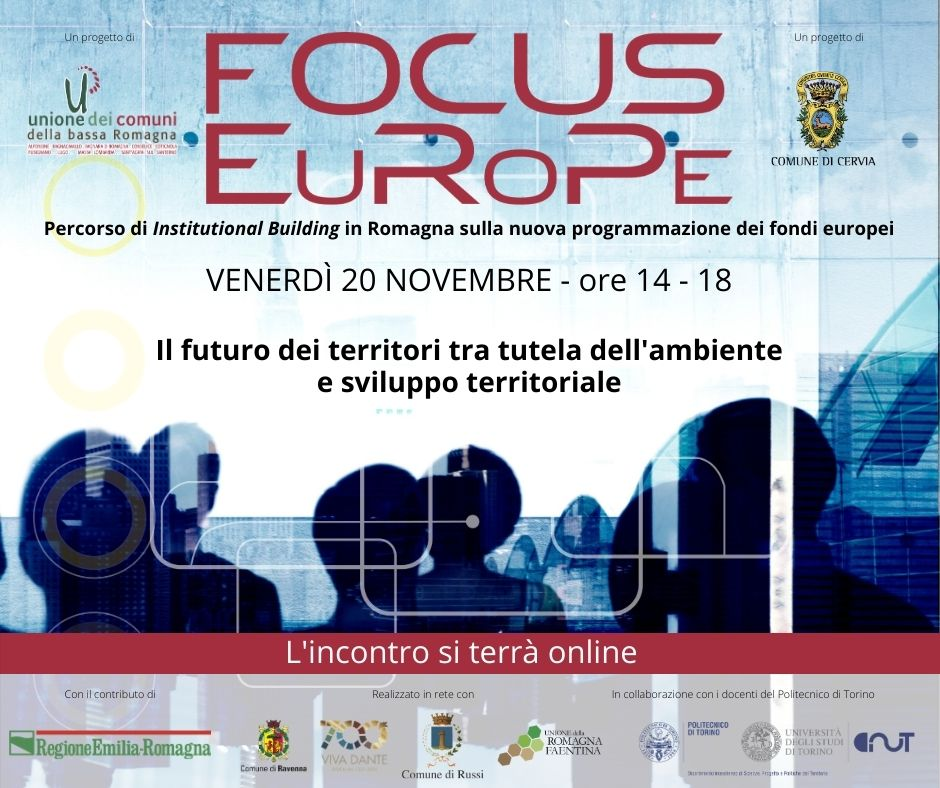 """""""Focus Europe"""", un convegno online su """"Il futuro dei territori tra tutela dell'ambiente e sviluppo territoriale"""""""