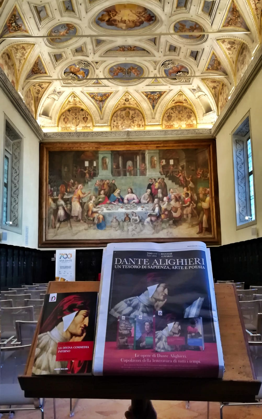 """Il """"Dante"""" di Runcaldier sulla copertina dell'Inferno in edicola martedì con il Corriere della Sera"""