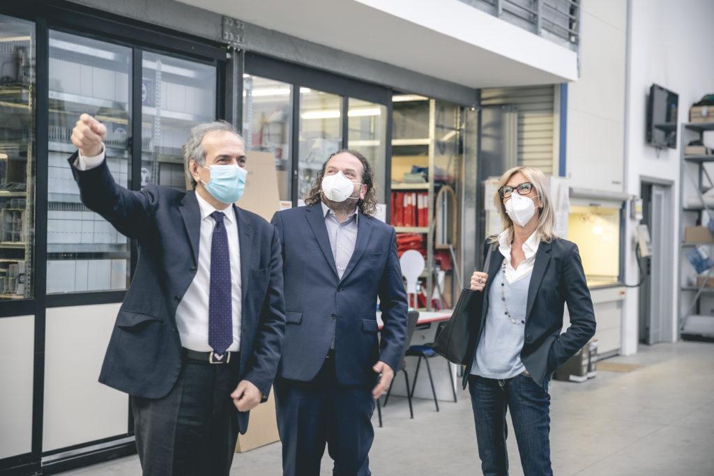 Il sindaco di Forlì visita le aziende Dino Zoli Group, E.R. Lux e Gencom
